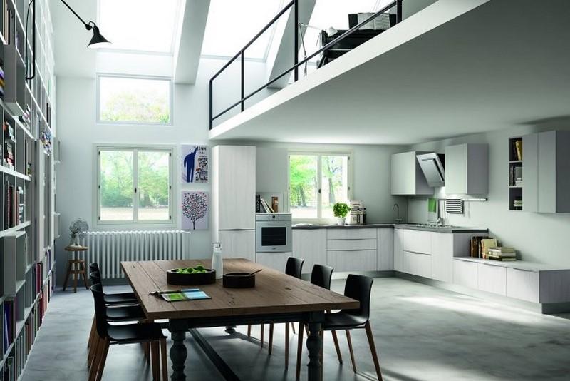 Artigiana extra srl mobili su misura - Cucina con soppalco ...