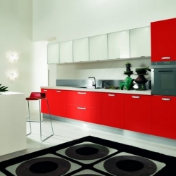 Esempio cucina rossa