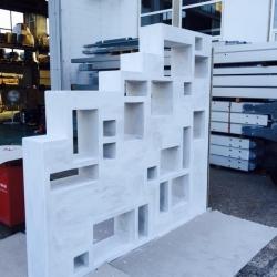 Ristrutturazione Garbagnate - libreria vano scala - su progetto