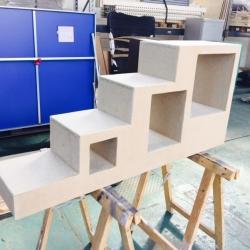 Ristrutturazione Garbagnate - libreria vano scala - work in progress