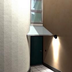 Pensilina in vetro per ingresso condominiale