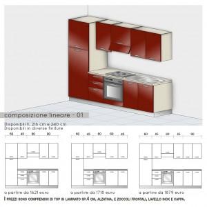 Cucina lineare - modello base