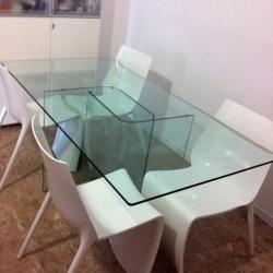 5-Tavolo vetro trasparente
