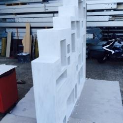 Ristrutturazione Garbagnate - libreria vano scala vista laterale